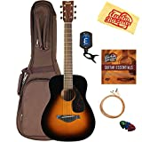 Yamaha JR2 Junior-Size 33-Inch Acoustic Guitar - Tobacco Sunburst Bundle with Gig Bag, Tuner,...