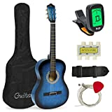 Best Choice Products 38in Beginner Acoustic Guitar Starter Kit w/ Case, Strap, Digital E-Tuner,...