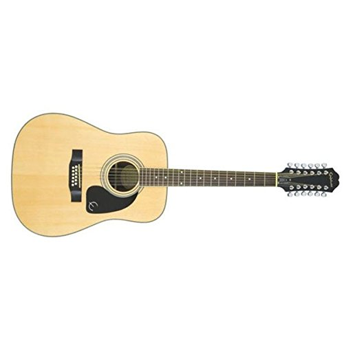 Epiphone DR-212 Acoustic 12 String Guitar, Natural