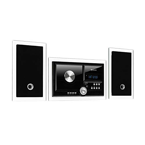 auna Stereosonic Microsystem, Stereo System, Micro System, 2 Stereo Speakers, Front-Loading CD...
