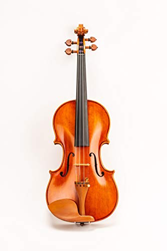 D Z Strad Model 220 4/4 Full Size Violin with Dominant strings, bow, case, rosin and shoulder...