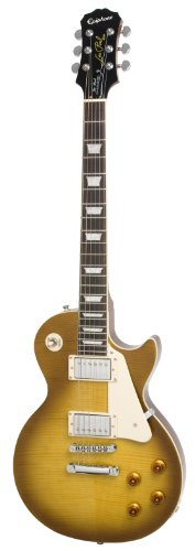 Epiphone Les Paul STANDARD PLUS-TOP PRO Electric Guitar with Coil-Tapping, Honey Burst