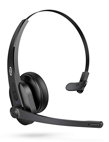 TaoTronics Trucker Bluetooth Headset with Microphone, Wireless Cell Phone Headset Noise Cancelling...