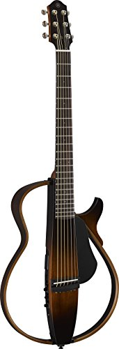Yamaha SLG200S TBS Steel String Silent Guitar with Hard Gig Bag, Tobacco Sunburst
