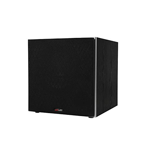 Polk Audio PSW10 10' Powered Subwoofer - Power Port Technology, Up to 100 Watts, Big Bass in Compact...