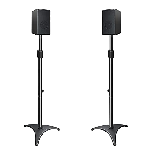 Mounting Dream Height Adjustable Speaker Stands Mounts, One Pair Floor Stands, Heavy Duty Base...