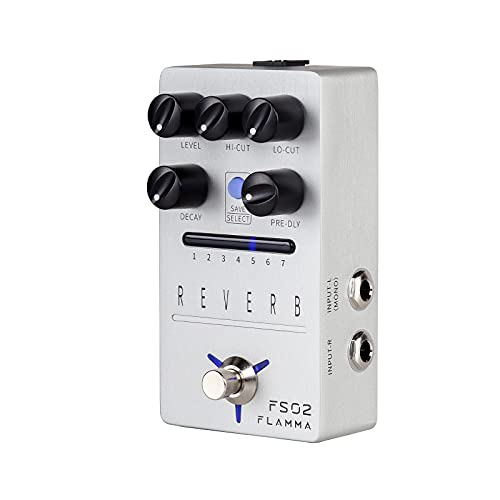 FLAMMA FS02 Reverb Pedal Stereo Digital Guitar Pedal with 7 Storable Preset Slots Room Hall Church...