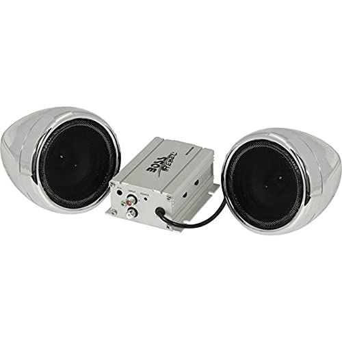 BOSS Audio Systems MC420B Motorcycle Speaker System – Class D Compact Amplifier, 3 Inch...