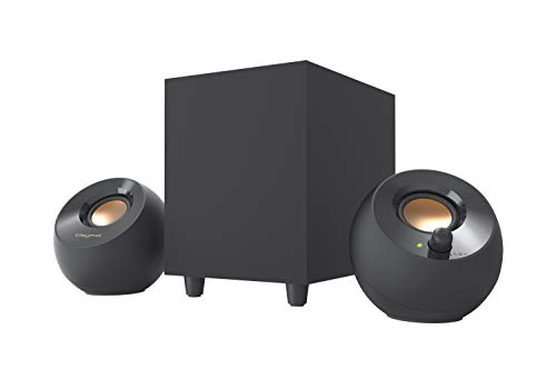 Creative Pebble Plus 2.1 USB-Powered Desktop Speakers with Powerful Down-Firing Subwoofer and...