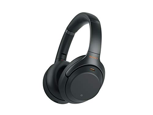 Sony WH1000XM3 Noise Cancelling Headphones, Wireless Bluetooth Over the Ear Headset – Black (2018...