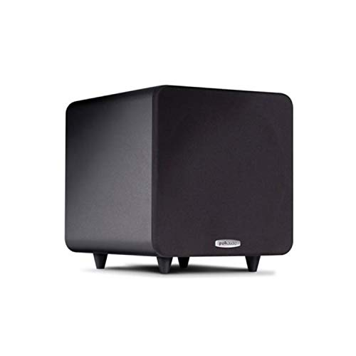 Polk Audio PSW111 Compact Powered 8' Subwoofer | Up to 300 Watt Amp | Stylish Looks, Big Bass at...