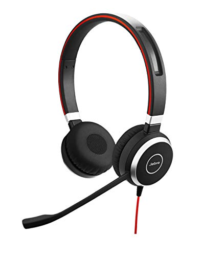 Jabra Evolve 40 UC Professional Wired Headset, Stereo – Telephone Headset for Greater...