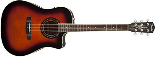 Fender T-Bucket 300CE Cutaway Acoustic-Electric Guitar, Quilted Maple Top, Mahogany Back and Sides,...