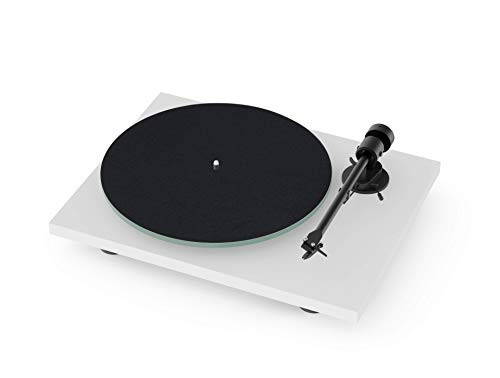 Pro-Ject T1 BT Turntable with Built-in Preamp and Wireless Audio Transmitter (Satin White)