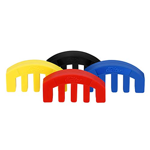 Eastar EAC-002C 4/4 Violin Practice Mute Set Rubber Full Size,4 Pcs,4 Color (Black+Red+Blue+Yellow)