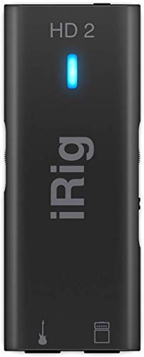IK Multimedia iRig HD 2 digital guitar interface for iPhone, iPad and Mac (IP-IRIG-HD2-IN)