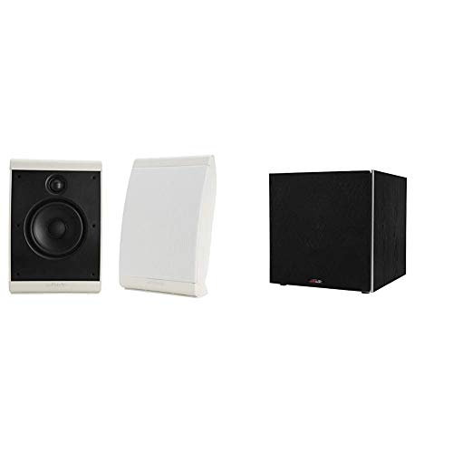 Polk Audio OWM3 Wall and Bookshelf Speakers & PSW10 10' Powered Subwoofer - Featuring High Current...