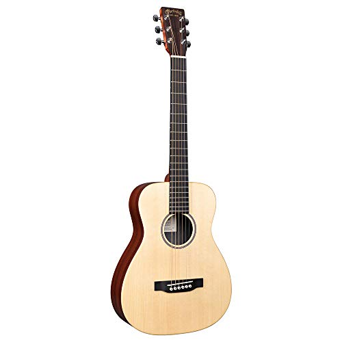 Little Martin LX1E Acoustic-Electric Guitar with Gig Bag, Sitka Spruce Top, Mahogany HPL...