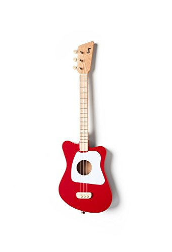 Loog Mini Acoustic Guitar for Children and Beginners, (Red)