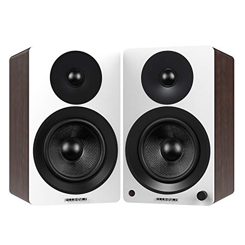 Fluance Ai60 High Performance Powered Two-Way 6.5' 2.0 Bookshelf Speakers with 100W Class D...