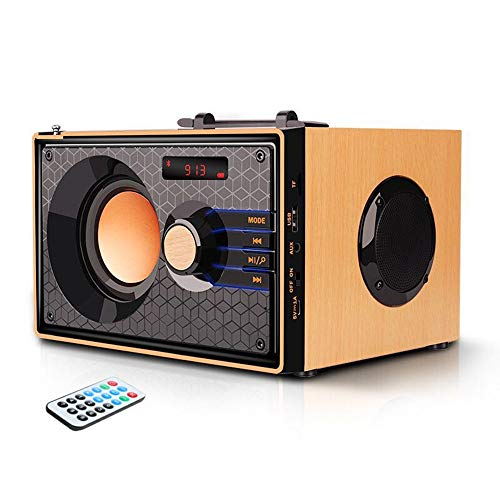 Portable Bluetooth Speakers with FM Radio Subwoofer Remote Control AUX USB, Clear Audio Rich Bass...