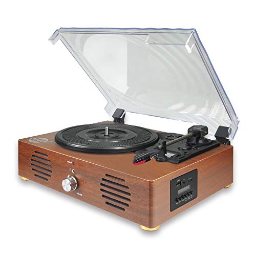 Record Player-13 in 1 Turntable with Speakers Vinyl Recording LP Bluetooth USB TF Card FM Radio Aux...