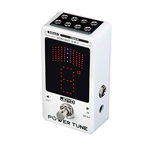 JOYO Power Tune Tuner Pedal 2 in 1 with Isolated 8-Channel (2 at 500mA, 6 at 100mA) Filtered Low...
