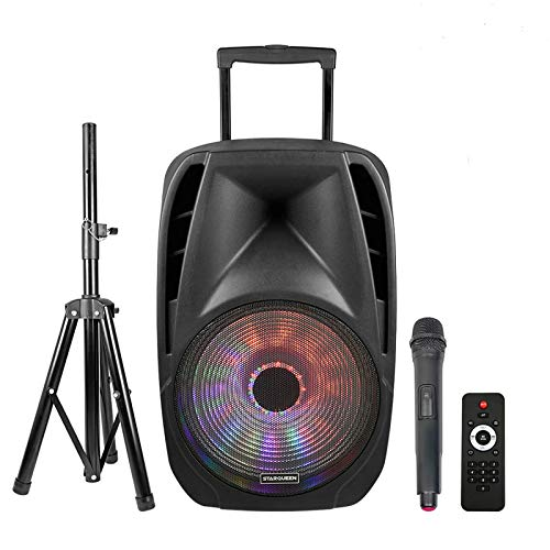 STARQUEEN Portable Bluetooth Speaker 12Inch Woofer, Outdoor Rechargeable PA System with Wireless...