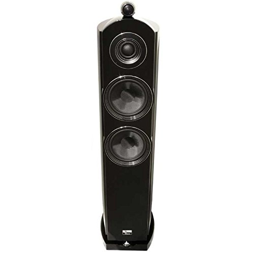 Earthquake Tigris Dual 8' / 2' / 1' 3 Way 500 Watt Audiophile Home Theater Tower Speakers Black...