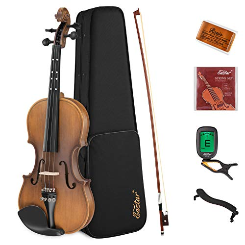 Eastar 3/4 Violin Set Fiddle EVA-3 Matte for Kids Beginners Students with Hard Case, Rosin, Shoulder...