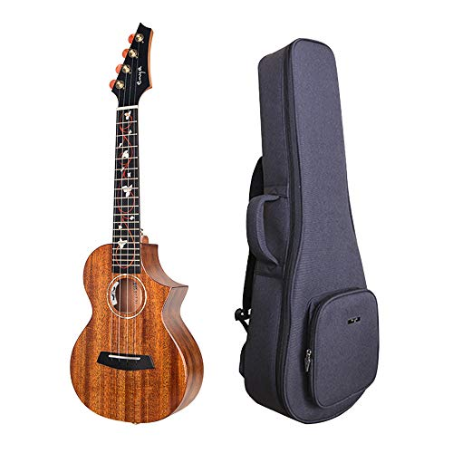 Enya EUC-M6 EQ Cutaway Acoustic Electric Concert Ukulele 23 Inch All Solid Mahogany with Beautiful...