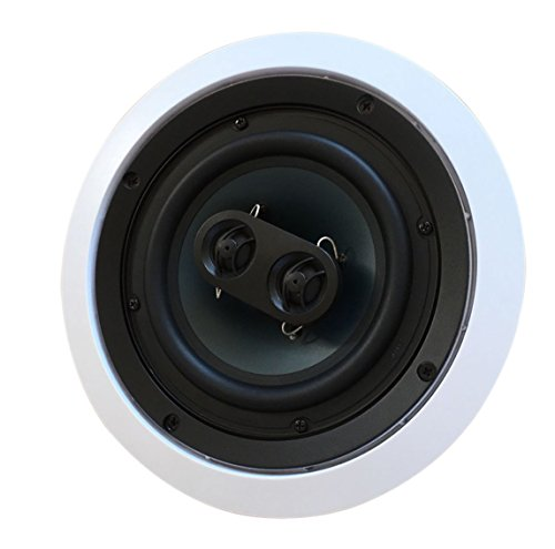 5252AC Silver Ticket in-Ceiling Speaker with Pivoting Full Speaker Adjustable Angle Woofers and...
