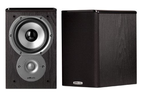 Polk Audio TSi100 Bookshelf Speakers (Pair, Black)
