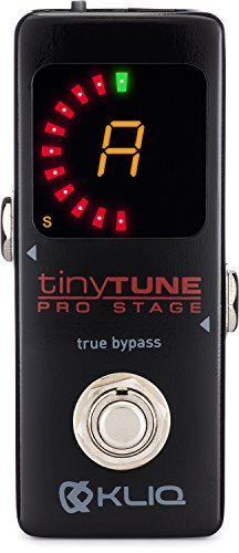 KLIQ TinyTune Pro Stage Tuner Pedal for Guitar and Bass with True Bypass Switching, Pitch...