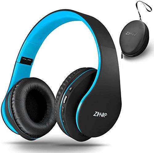 Wireless Over-Ear Headset with Deep Bass, Bluetooth and Wired Stereo Headphones Buit in Mic for Cell...