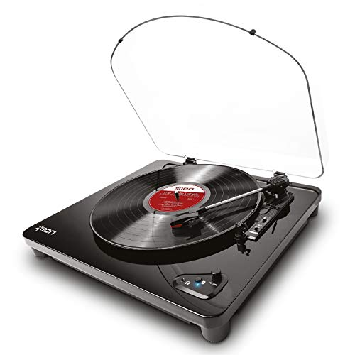 ION Audio Air LP | Vinyl Record Player / Bluetooth Turntable with USB Output for Conversion and...
