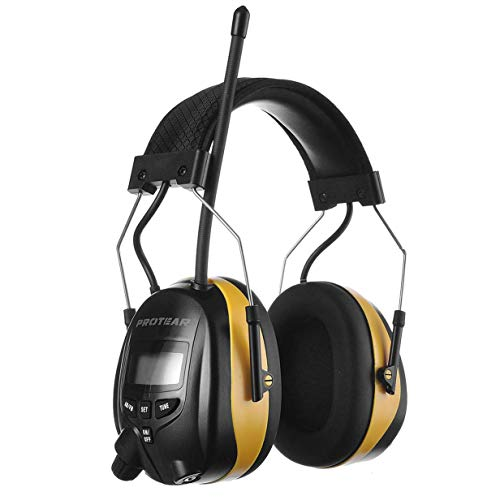 PROTEAR Digital AM FM Radio Headphones, Electronic Ear Protection Noise Reduction Safety Ear Muffs,...