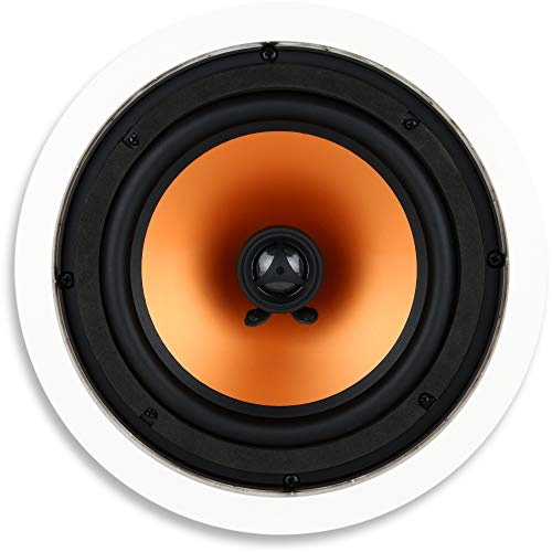 Micca M-8C 2-Way in Ceiling in Wall Speaker, 8 Inch Woofer, 1-Inch Pivoting Silk Dome Tweeter,...