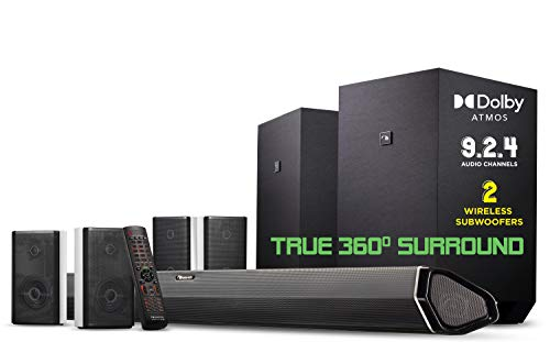 Nakamichi Shockwafe Ultra 9.2.4 Channel 1000W Dolby Atmos Soundbar with Dual 10' Subwoofers...
