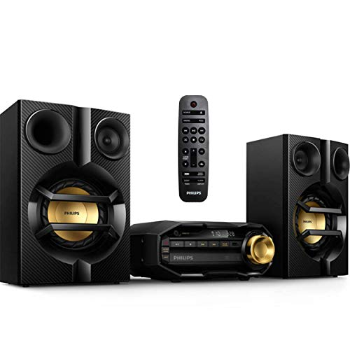 PHILIPS FX10 Bluetooth Stereo System for Home with CD Player , MP3, USB, FM Radio, Bass Reflex...