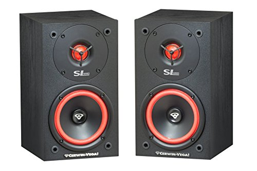 Cerwin-Vega SL-5M 5 1/4' 2-Way Bookshelf Speaker, Pair