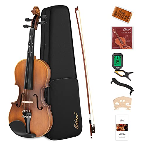 Eastar 4/4 Full Size Violin Set Matte Fiddle for Kids Beginners Students Adults with Hard Case,...
