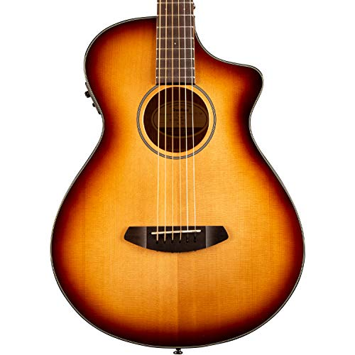Breedlove 6 String Discovery Concertina Sunburst CE Sitka-Mahogany Acoustic-Electric Cutaway Guitar,...