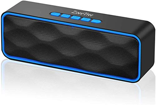 ZoeeTree S1 Bluetooth Speaker Wireless V5.0, Portable Speaker with HD Sound and FM Radio, 12H...