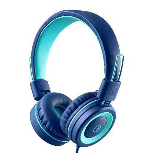 Kids Headphones - noot products K11 Foldable Stereo Tangle-Free 3.5mm Jack Wired Cord On-Ear Headset...