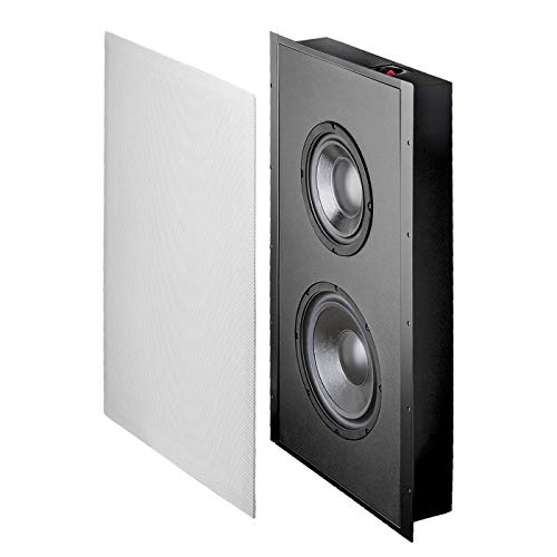 """OSD Trimless in Wall Subwoofer Dual 8"""" Woofers 300W Sealed Enclosure Magnetic Grill SL800"""
