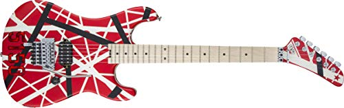 EVH Striped Series 5150 Red, Black, and White Stripes