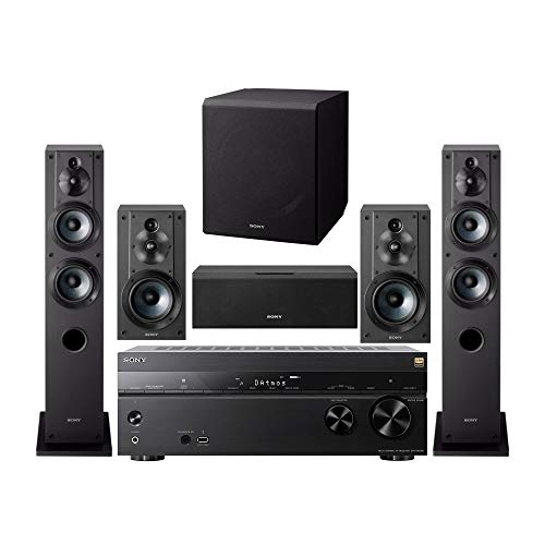 Sony 7.2 Channel 3D 4K A/V Surround Sound Multimedia Home Theater System (STRDN1080, SSCS3 (2),...