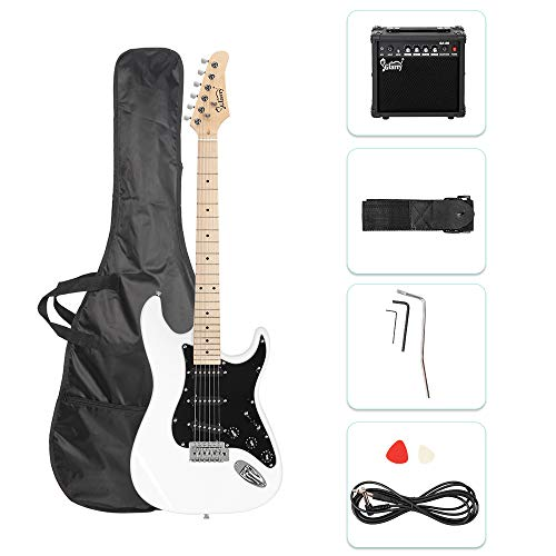 GLARRY Full Size Electric Guitar for Music Lover Beginner with 20W Amp and Accessories Pack Guitar...