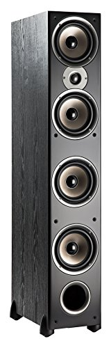 Polk Audio Monitor 70 Series II Tower Speaker (Black, Single) for Multichannel Home Theater | 1'...